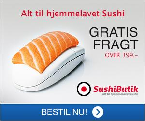 Vi har alt til hjemmelavet sushi
