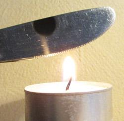 Sod nanopartikler fra et stearin lys
