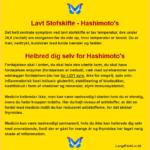 Lavt StofSkifte - Hashimoto's - Helbred dig selv